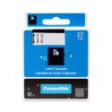 Kompatibilní páska s DYMO 40916 (S0720710), 9mm, černý tisk na modrém podkladu