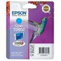Originální náplň EPSON T0802 (Azurová)